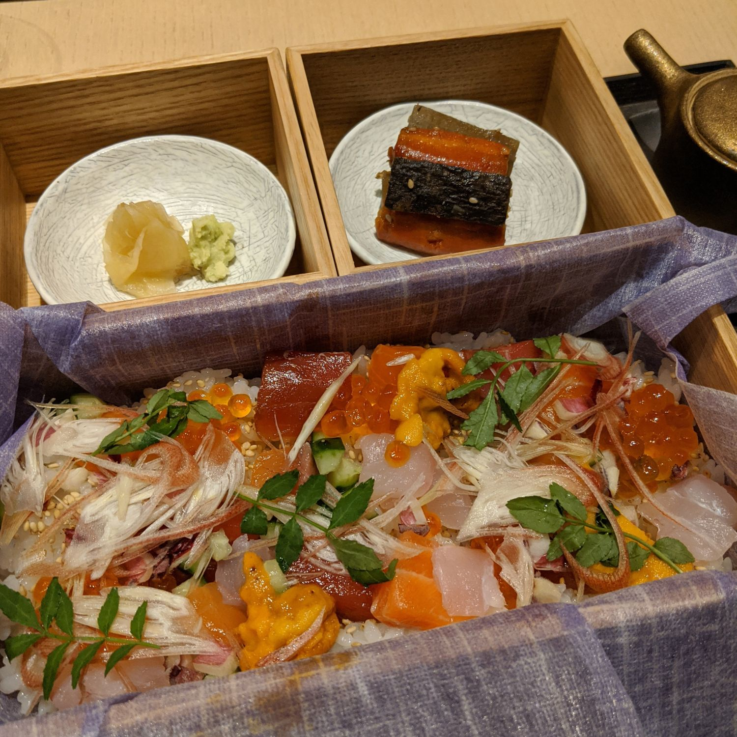 aman kyoto the living pavilion chirashi
