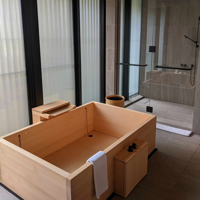 aman kyoto kaede room bathroom
