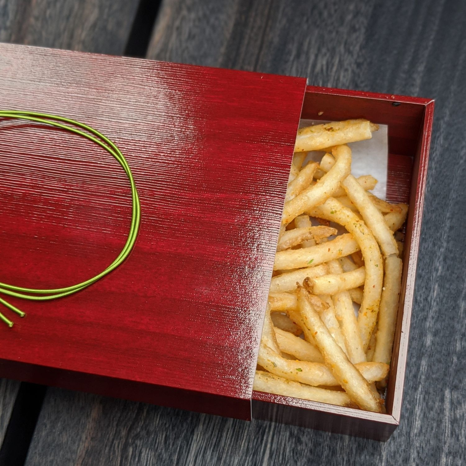 aman kyoto the living pavilion french fries with kyoto seven spices pepper