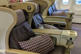 Regional Business Class on Singapore Airlines SQ998 Airbus A330-300 Row 11