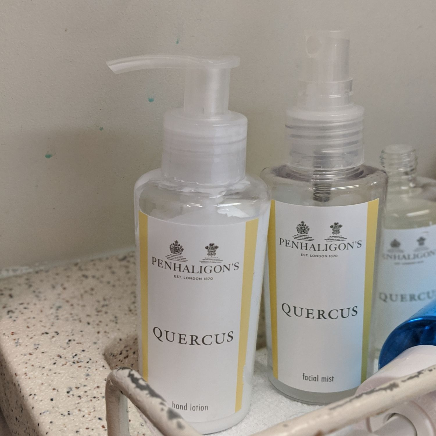 Regional Business Class on Singapore Airlines SQ998 Airbus A330-300 Penhaligon's Bathroom Amenities