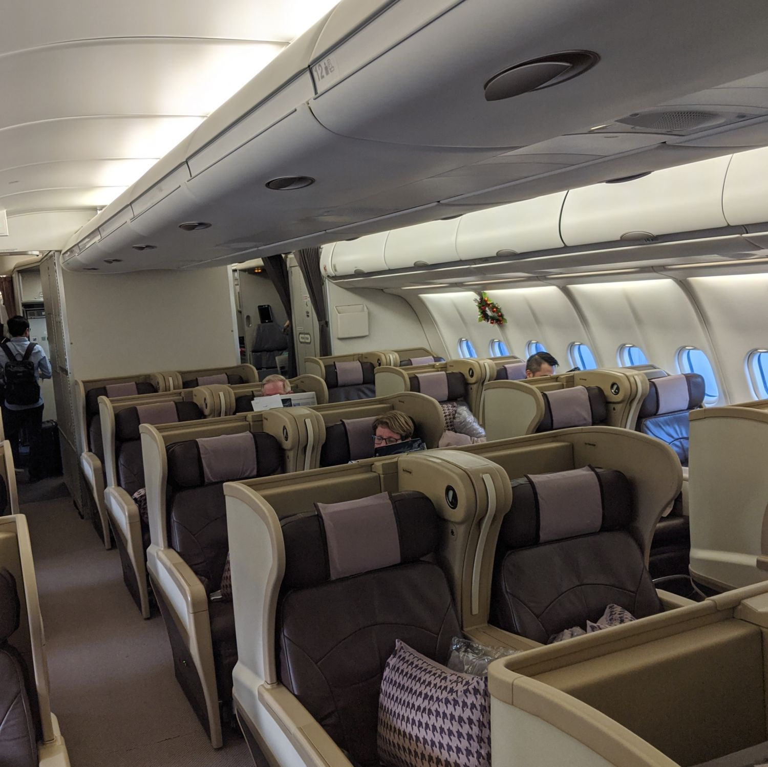 Regional Business Class on Singapore Airlines SQ998 Airbus A330-300 Business Class Cabin