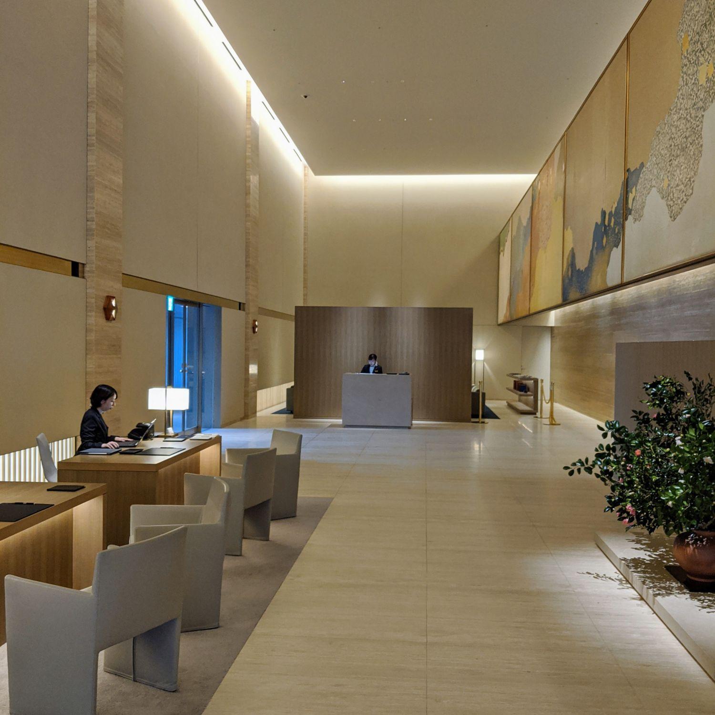 the okura tokyo heritage tower lobby