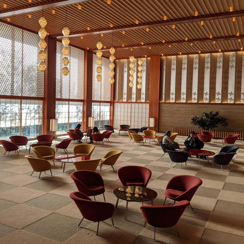 the okura tokyo prestige tower lobby