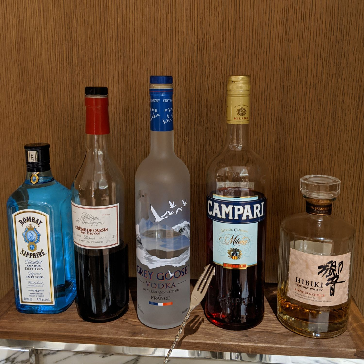 the okura tokyo club lounge night hors d'ouevre spirits selection