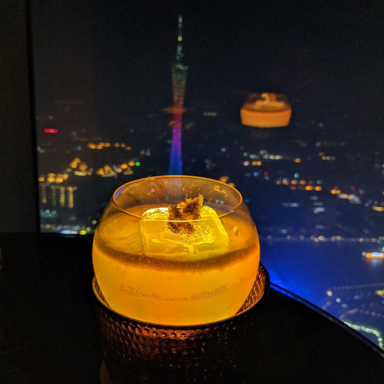 four seasons hotel guangzhou tian bar golden chrysanthemum
