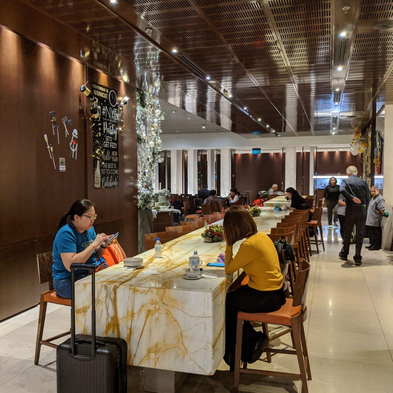 SilverKris Business Class Lounge Singapore Changi Airport Terminal 3 Dining Area