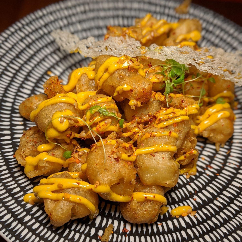 sofitel singapore city centre racines Deep-fried Eggplant