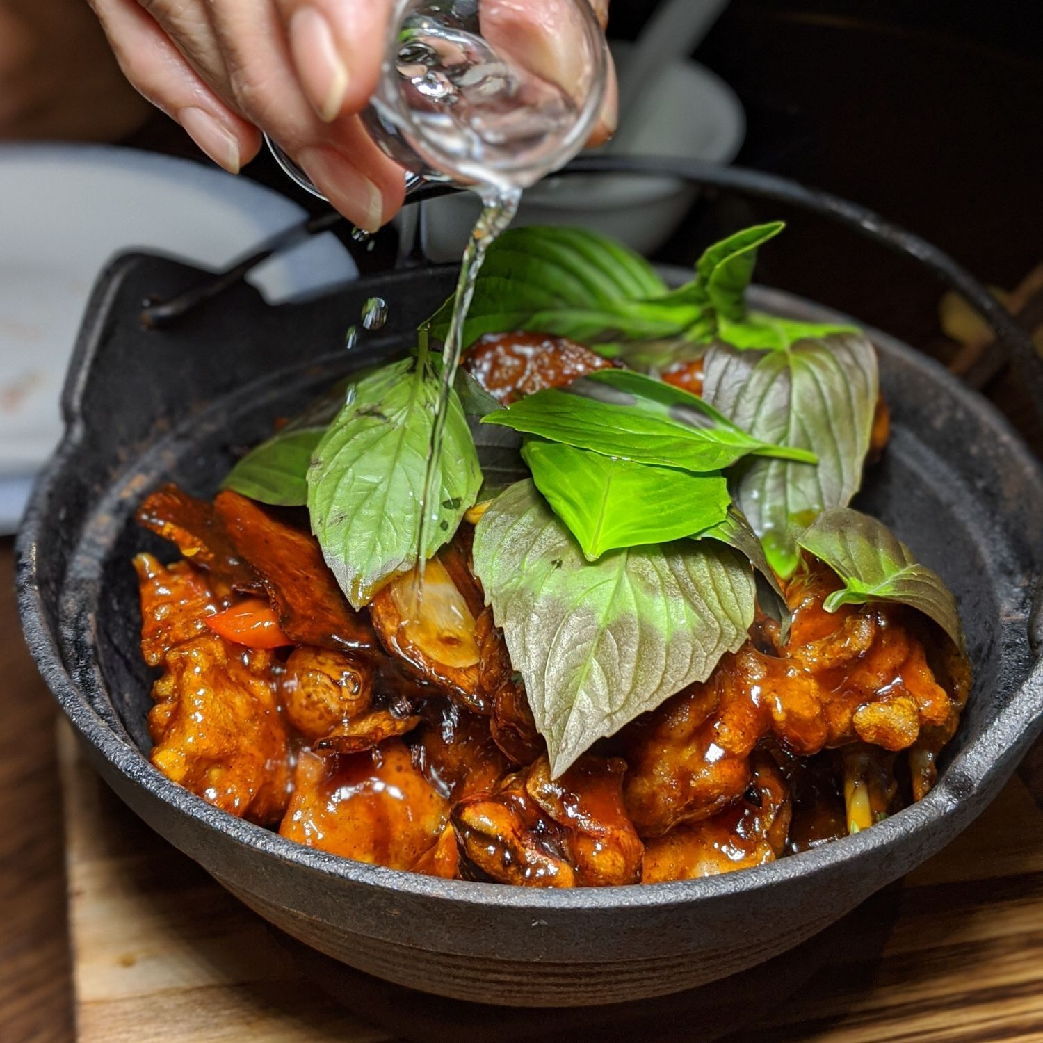 mott 32 singapore Crispy Free-Range Chicken, Moutai