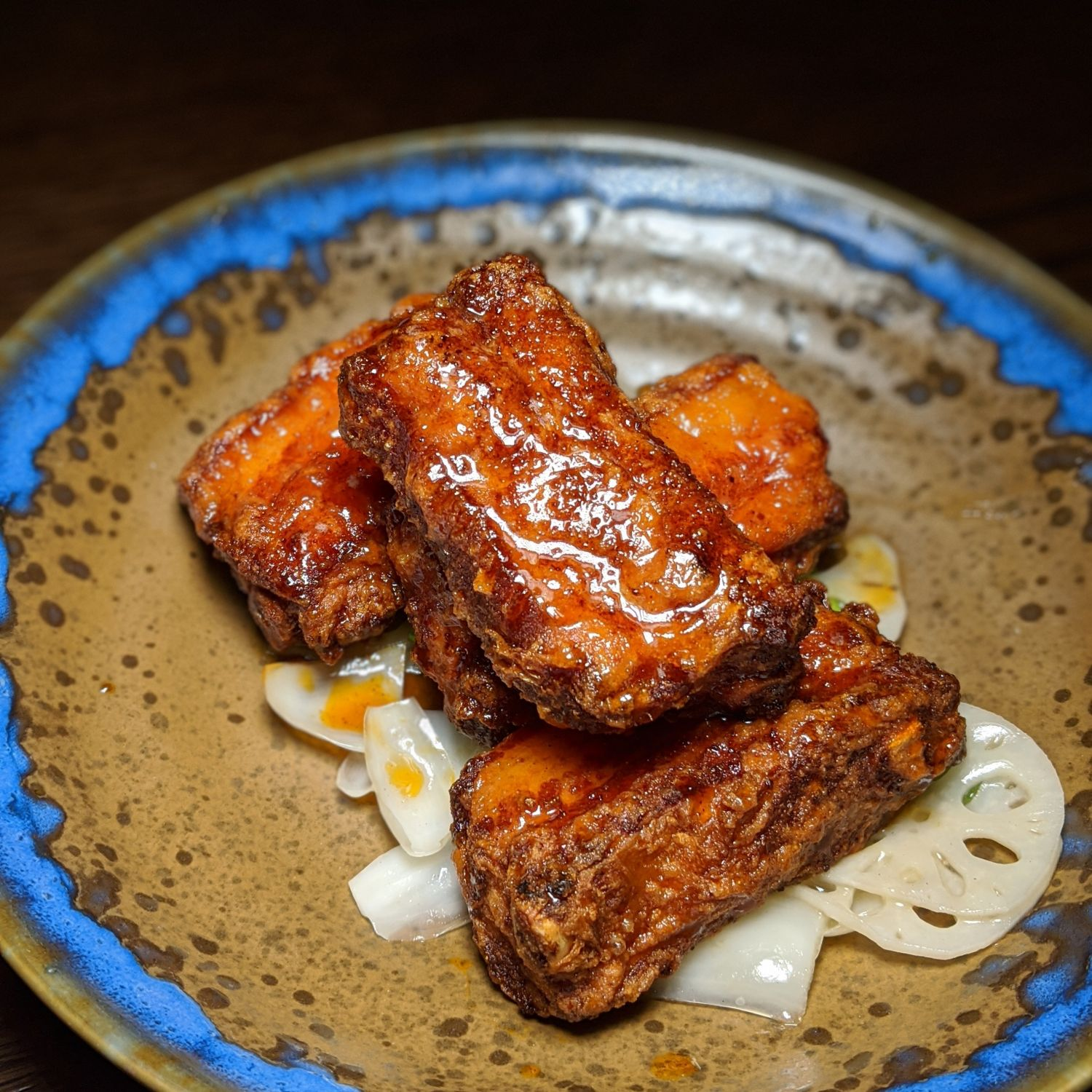 mott 32 singapore Crispy Pork Rib, Red Beancurd