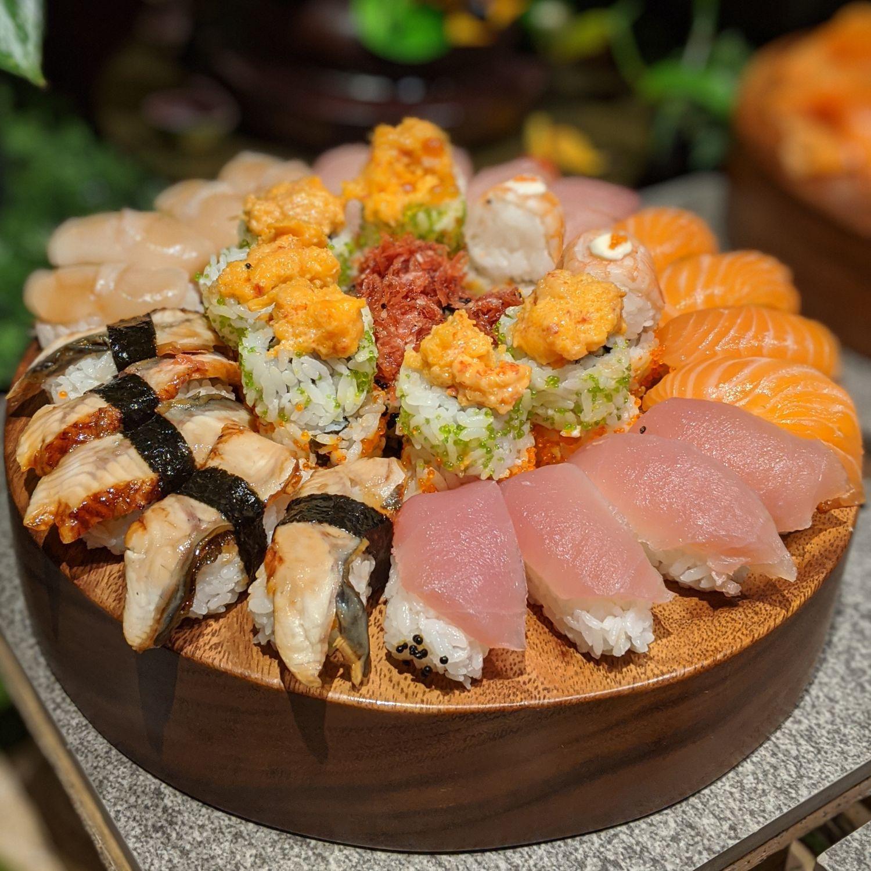 regent singapore english garden afternoon tea tea lounge sushi