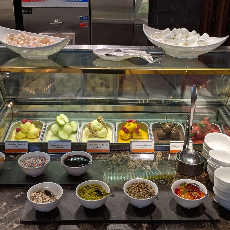 regent singapore basilico sunday brunch gelato & sorbet