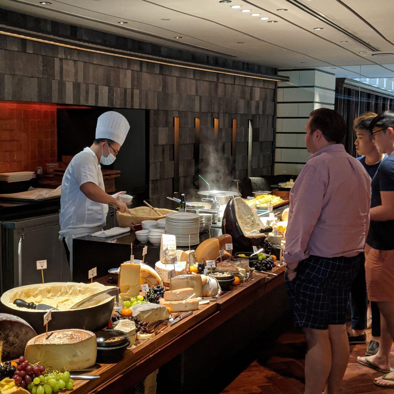 regent singapore basilico sunday brunch cheese room