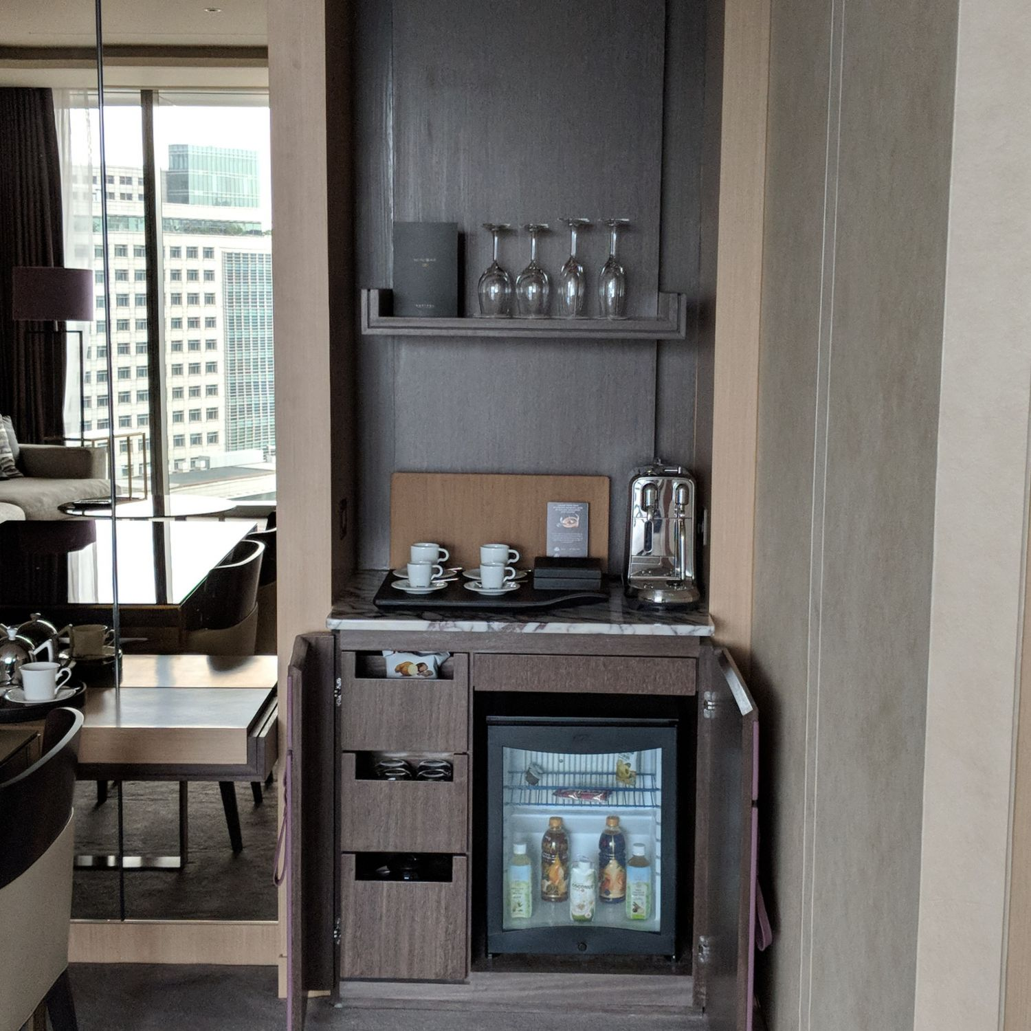 sofitel singapore city centre prestige suite minibar