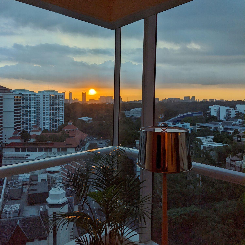 the st. regis singapore caroline astor suite sunset view