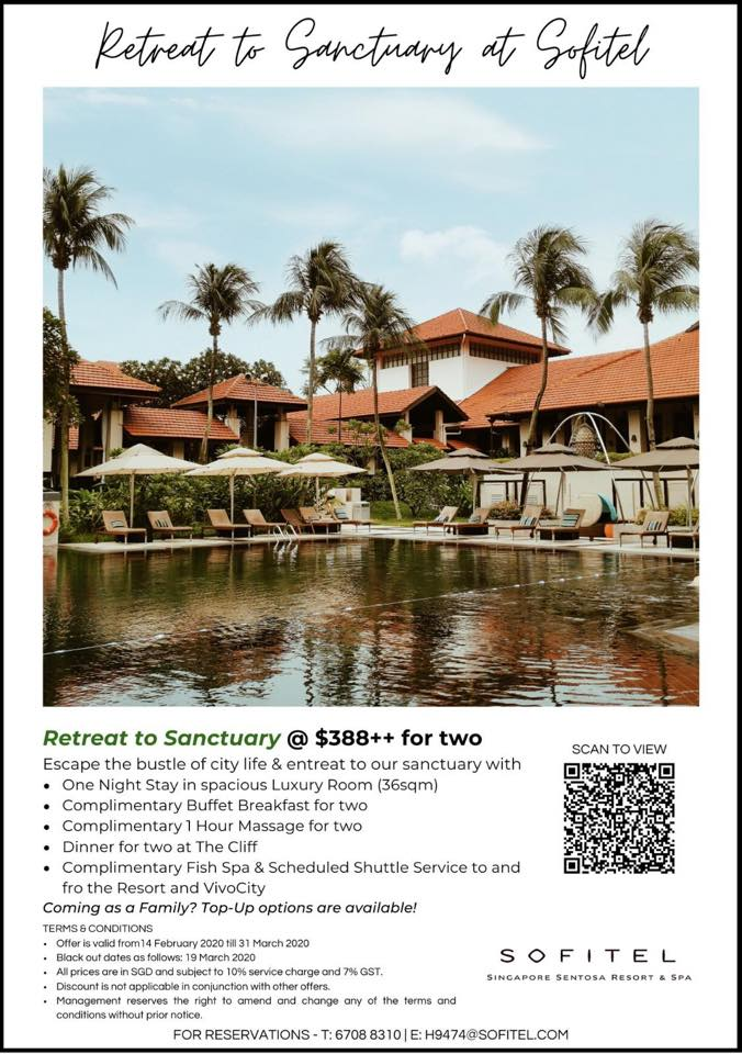Sofitel Singapore Sentosa Resort & Spa Retreat to Sanctuary Promotion