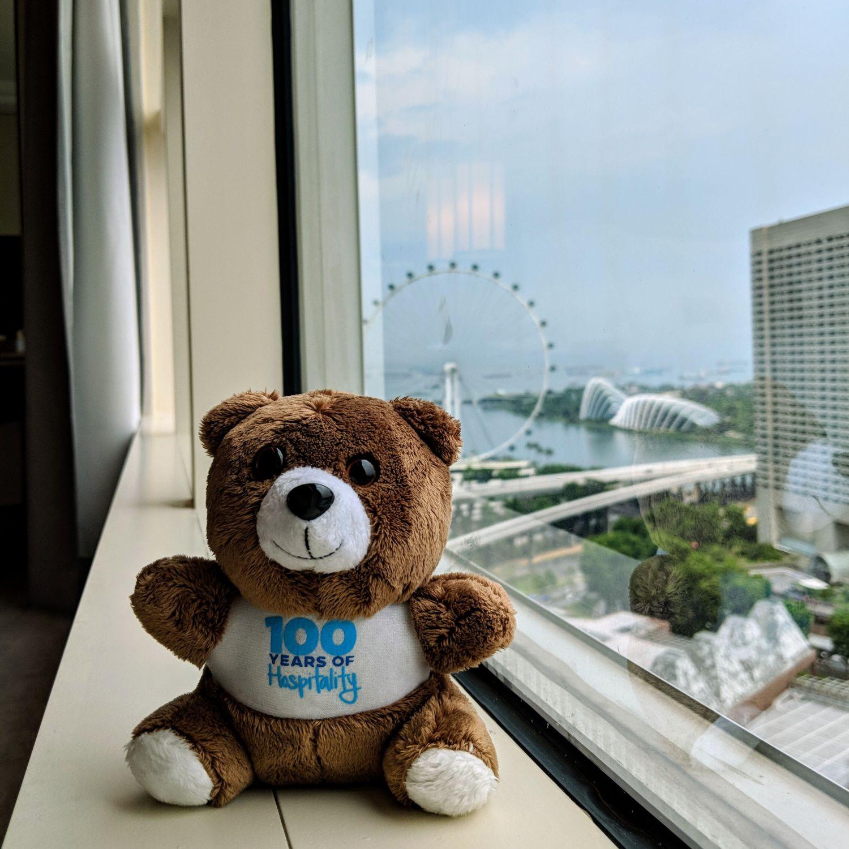conrad centennial singapore executive room conrad mascot plush