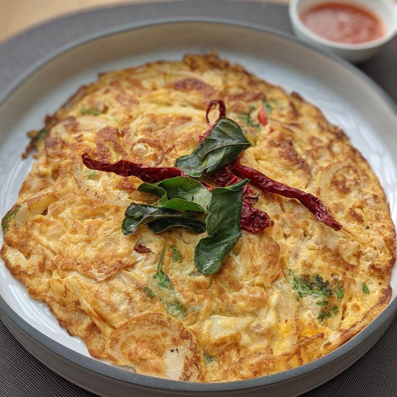 Dusit Thani Laguna Singapore Greenhouse Breakfast Spicy Thai Omelette