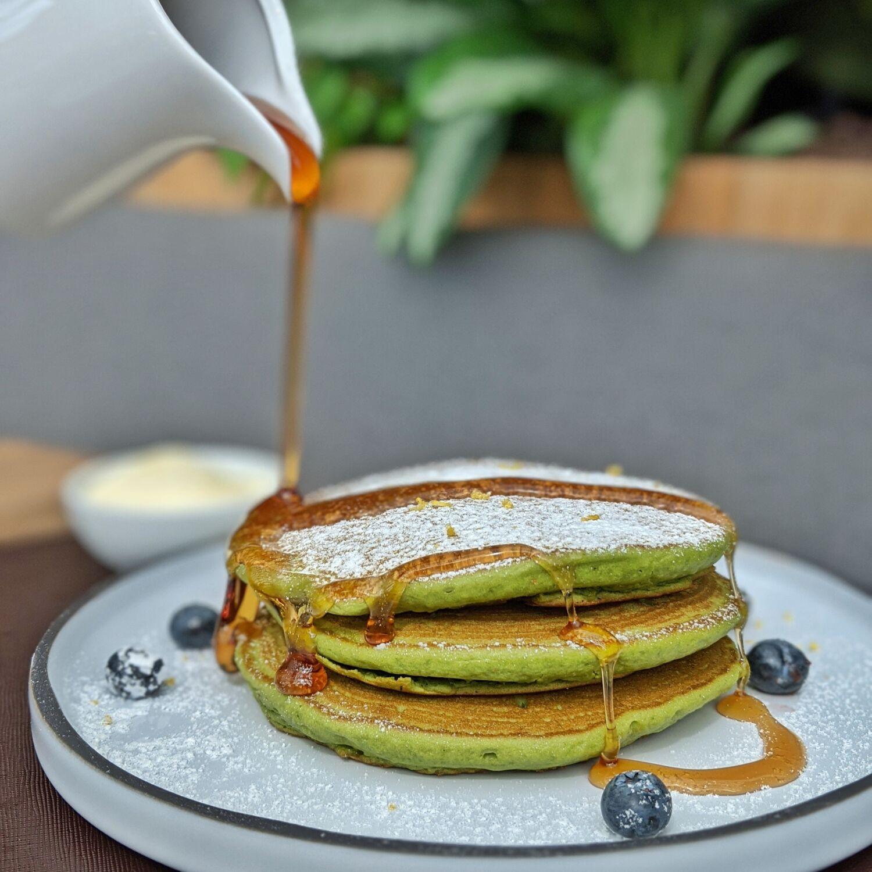 Dusit Thani Laguna Singapore Greenhouse Breakfast Lemon Matcha Pancakes