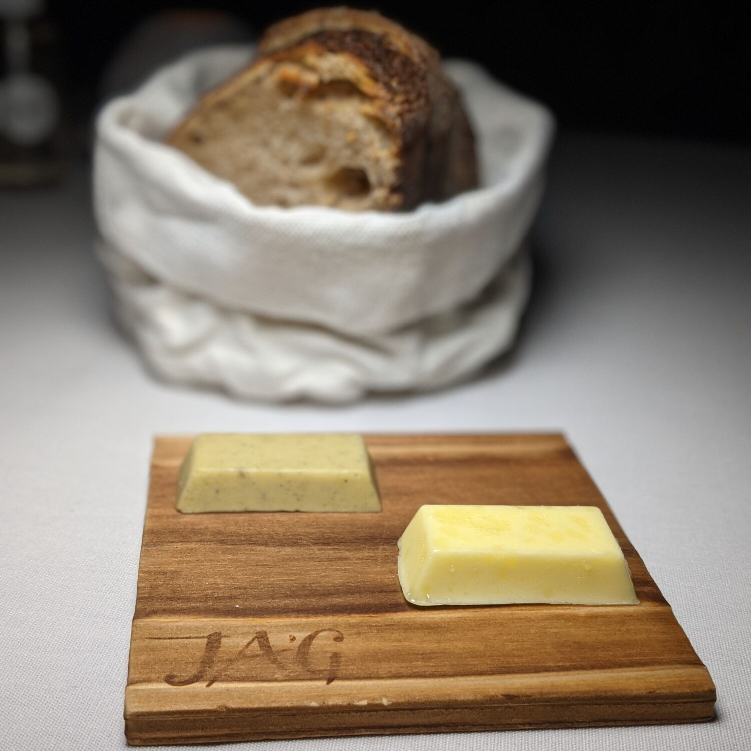 Restaurant JAG Bread with Two Types of Butter