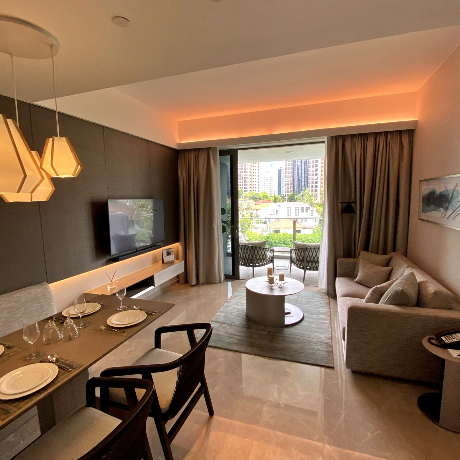 Fraser Residence Orchard Singapore Two-Bedroom Deluxe Terrace