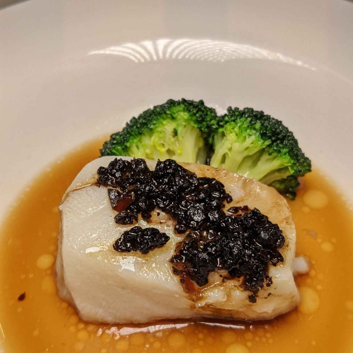 Raffles Hotel Singapore Yi by Jereme Leung Steamed Cod Fillet with Fermented Black Beans and Olives