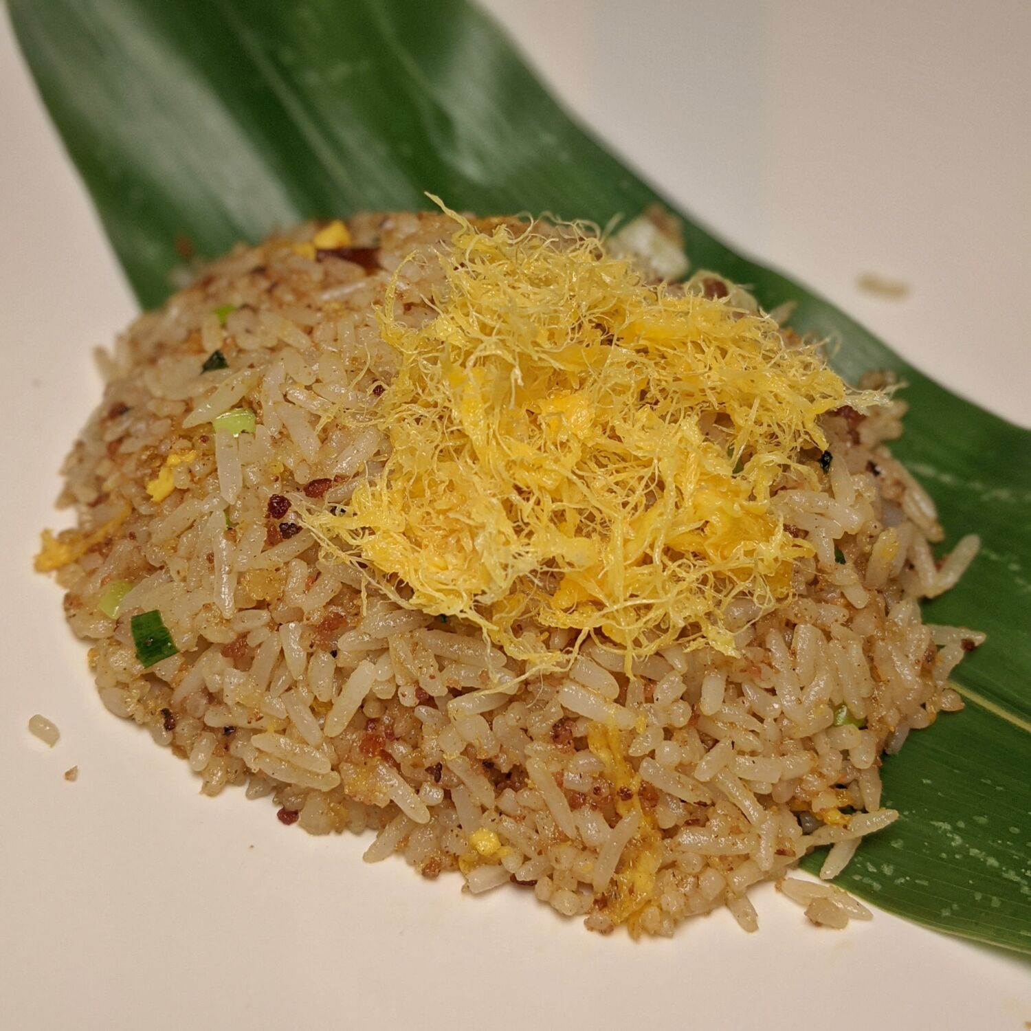 Raffles Hotel Singapore Yi by Jereme Leung Chef Jereme's Signature Golden Fried Rice with Preserved Meats