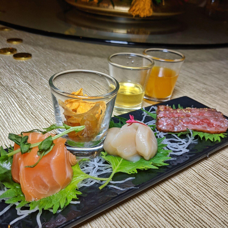 InterContinental Singapore Man Fu Yuan Salmon Yu Sheng, Japanese Omi A4 Wagyu Beef, Hokkaido Scallops