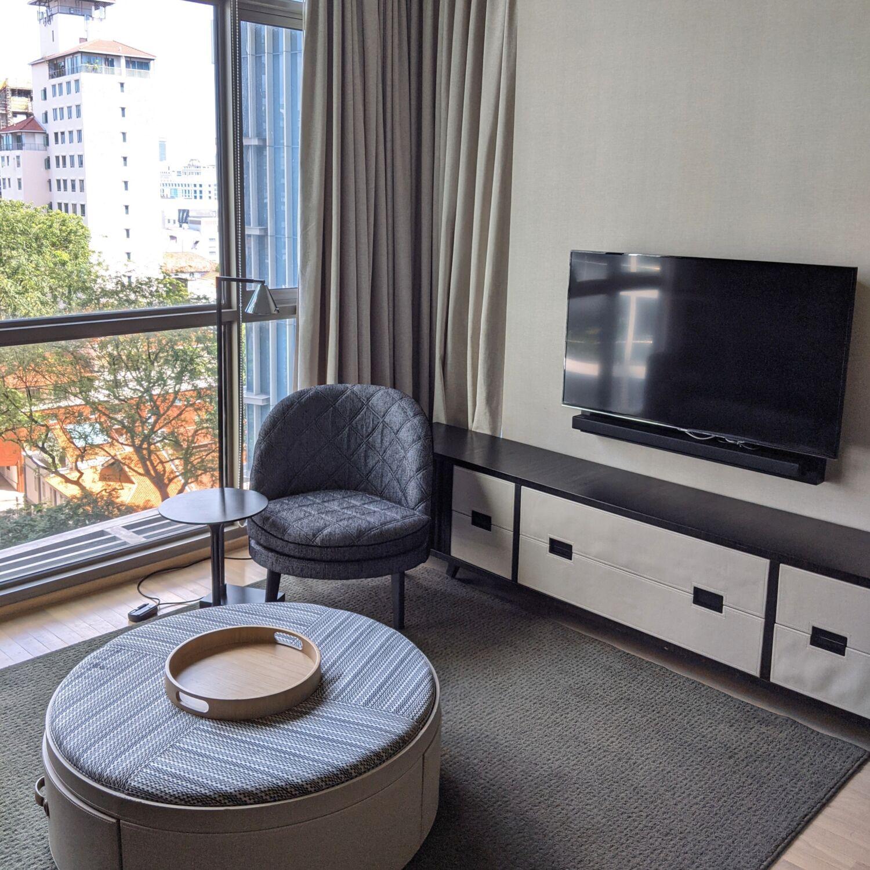 Ascott Orchard Singapore One-Bedroom Premier Suite Living Room