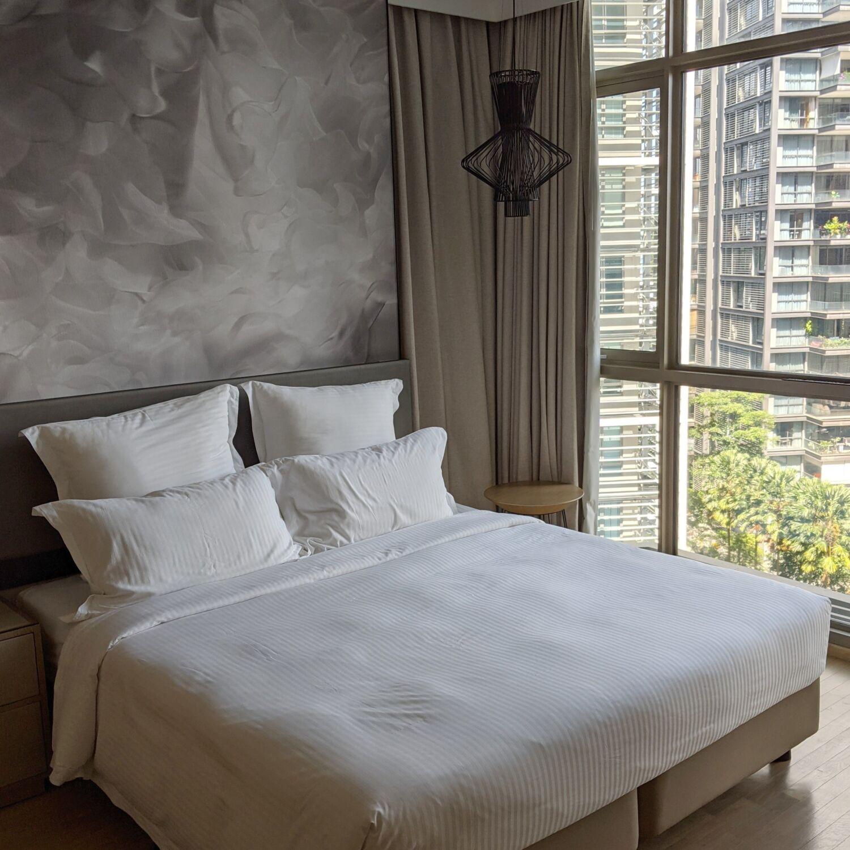 Ascott Orchard Singapore One-Bedroom Premier Suite Bedroom