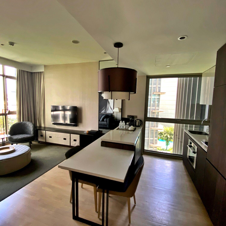 Ascott Orchard Singapore One-Bedroom Premier Suite Kitchen