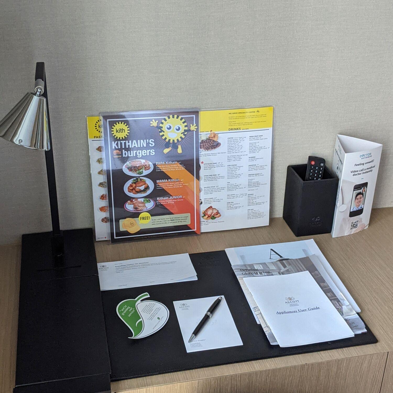 Ascott Orchard Singapore One-Bedroom Premier Suite Bedroom Work Desk