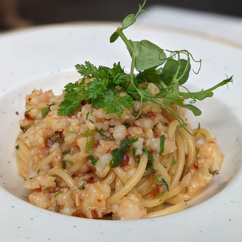 The Capitol Kempinski Hotel Singapore Set Lunch Spaghetti Aglio Olio & Peperoncino E Gamberi