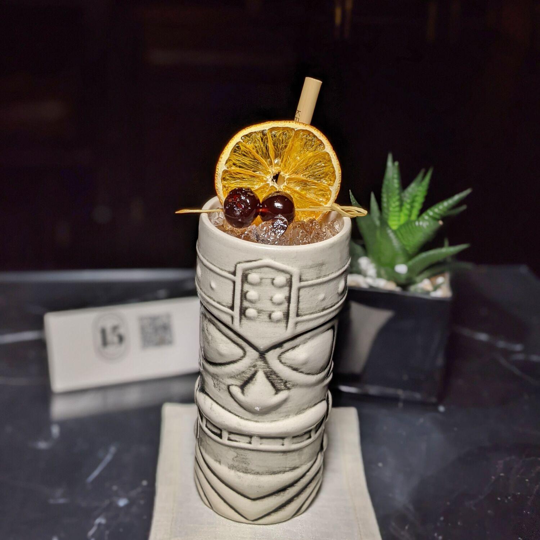 The Capitol Kempinski Hotel Singapore The Bar at 15 Stamford Bespoke Vodka Tiki Cocktail