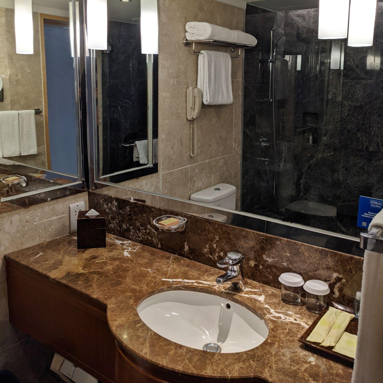 Hilton Singapore Premium Room Bathroom