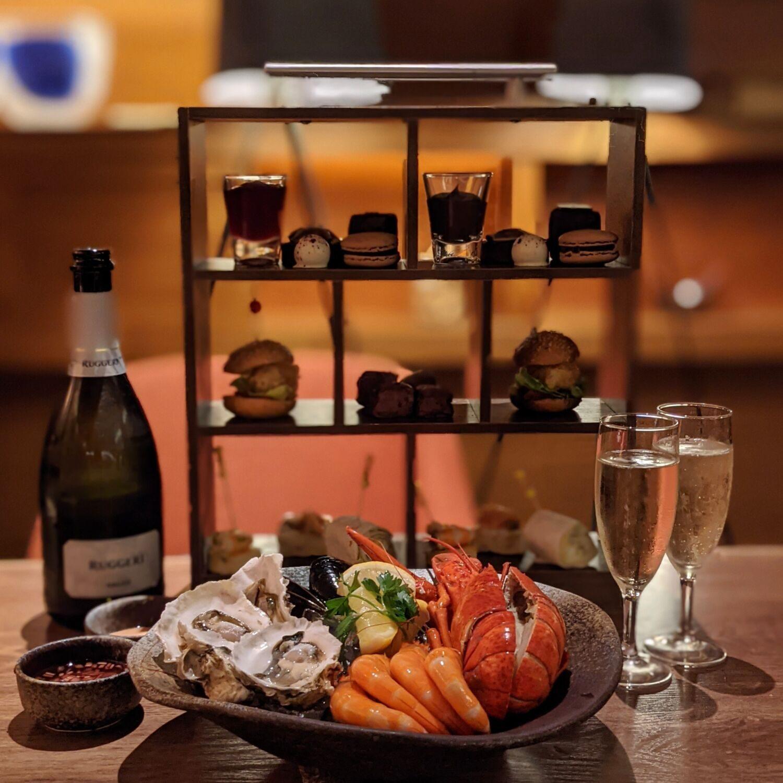 Hilton Singapore Opus Grill Prosecco, Seafood & Valrhona All-Chocolate High Tea