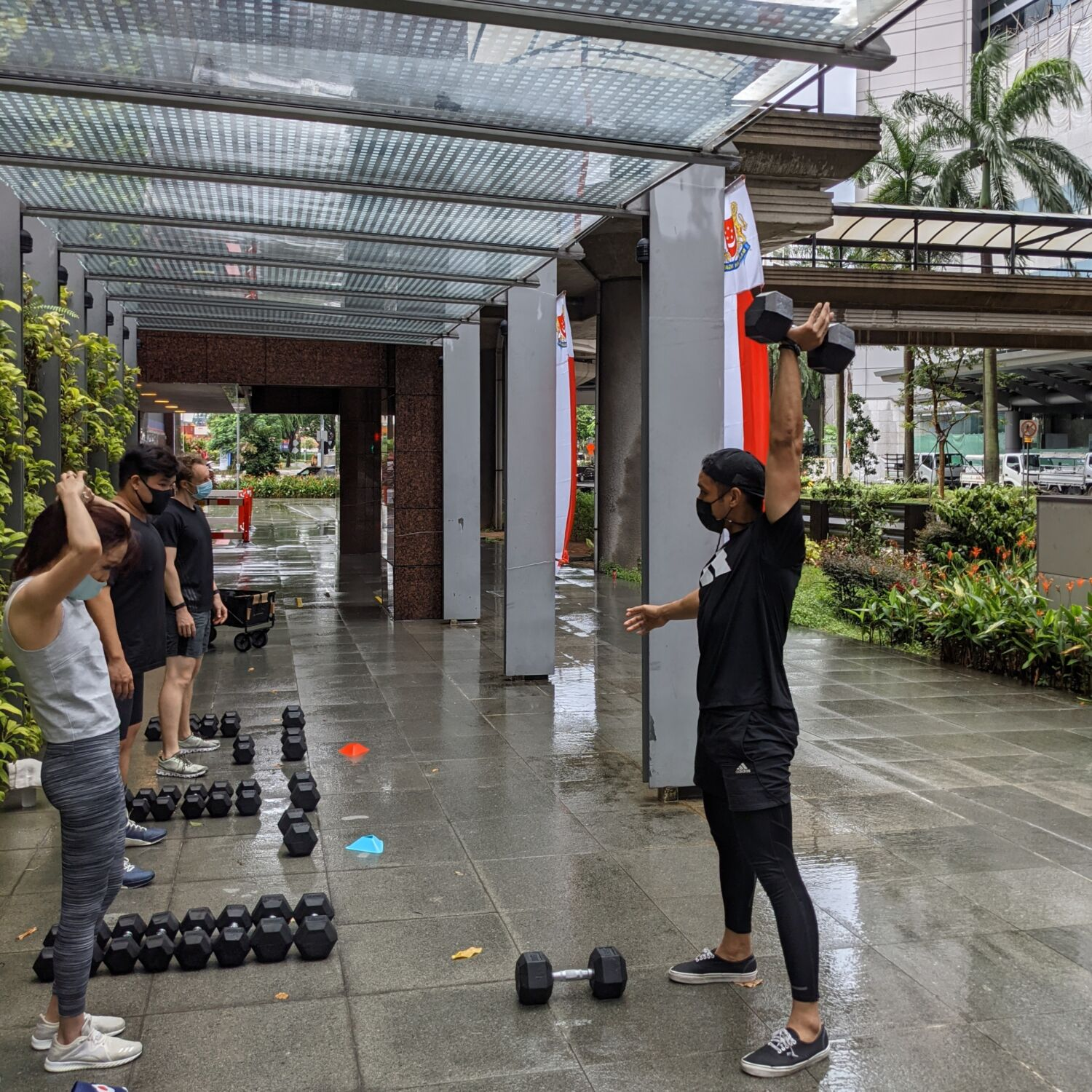 Division Athletics Singapore Haiqal Dumbbell Programme Outdoor Bootcamp