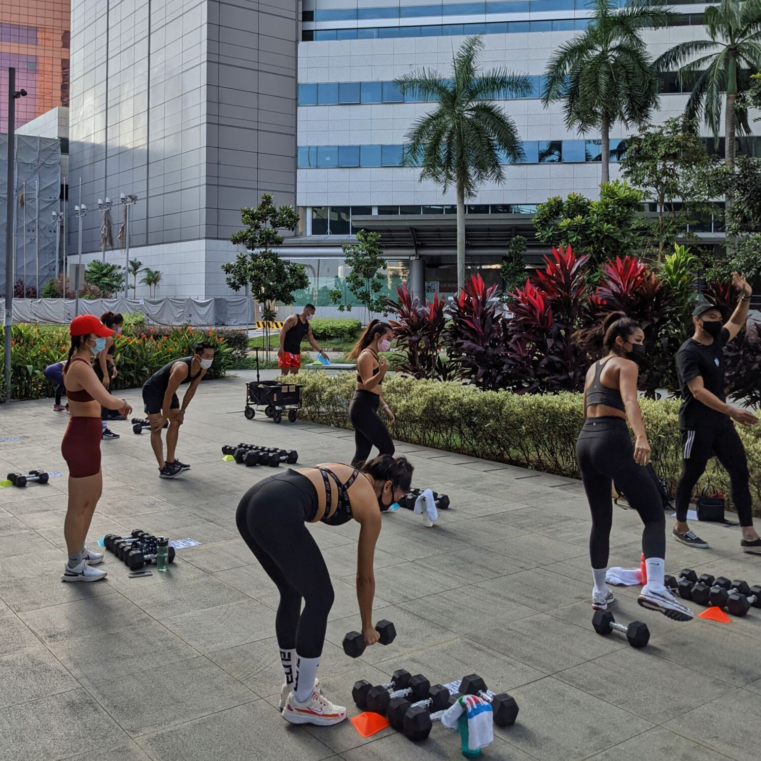 Division Athletics Singapore Dumbbell Programme Outdoor Bootcamp